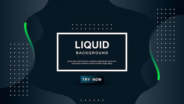 Dynamische abstracte golvende zwarte achtergrond