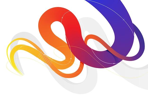 Dynamische abstracte kleurrijke bochtige vloeibare lijnen