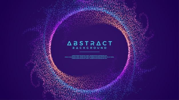 Dynamische abstracte stroomdeeltjes omcirkelen achtergrond.