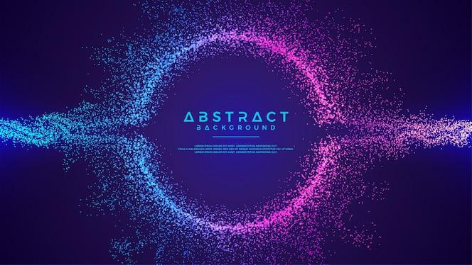 Dynamische abstracte vloeibare stroom deeltjes achtergrond.