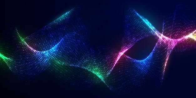 Dynamische abstracte vloeistof stroom deeltjes achtergrond.