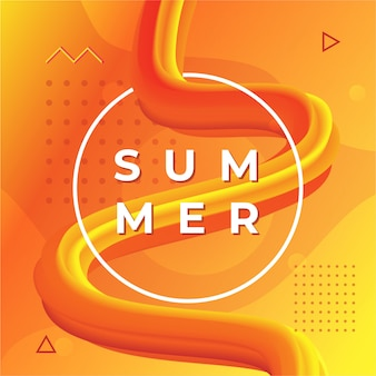 Dynamische abstracte zomer getextureerde oranje achtergrond.
