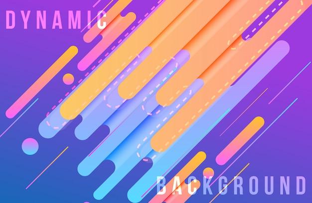 Dynamische achtergrond met abstracte vormensamenstelling en levendige kleur