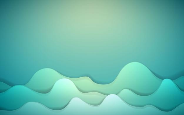 Dynamische achtergrond met groene vloeibare vorm