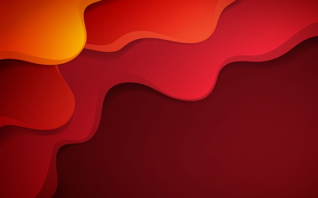 Dynamische achtergrond met rode vloeibare vorm