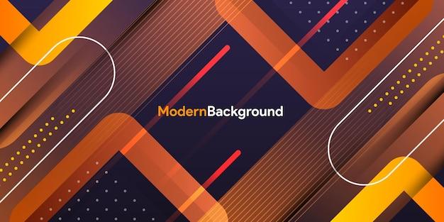 Dynamische gradiënt oranje geometrische achtergrond
