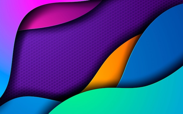 Dynamische kleuren geweven geometrische achtergrond