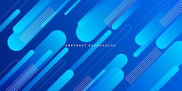 Dynamische kleurrijke blauwe geometrische achtergrond