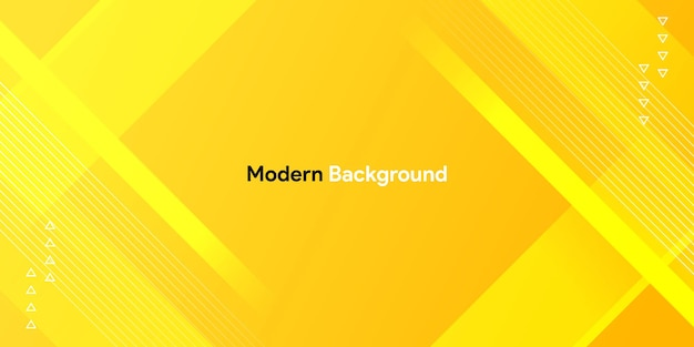 Dynamische kleurrijke gele vorm met geometrische en gradiëntachtergrond