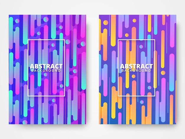 Dynamische kleurrijke levendige banners