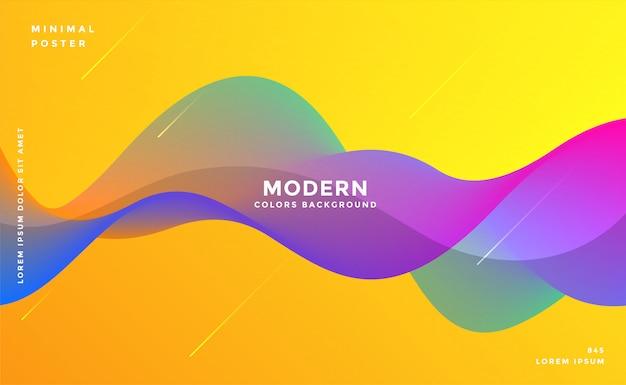 Dynamische kleurrijke levendige golf kleurrijke achtergrond