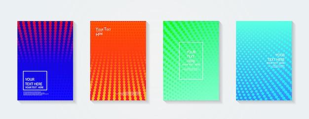 Dynamische kleurrijke verlopen toekomstige geometrische patronen kleuren volledig plakkaat postersjabloon