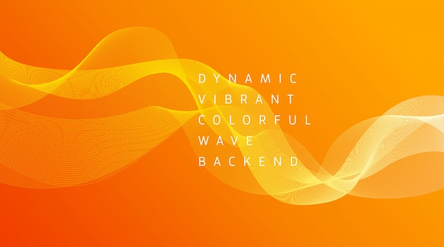Dynamische levendige kleurrijke golf achtergrond