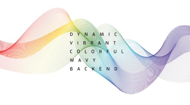 Dynamische levendige kleurrijke golvende back-end