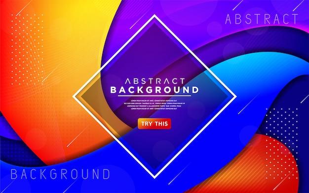 Dynamische moderne kleurrijke vloeibare 3d achtergrond