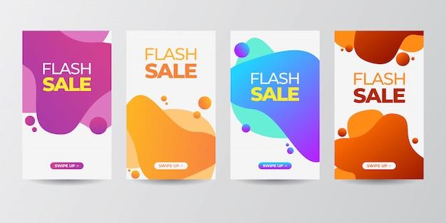 Dynamische moderne vloeiende mobiel voor flash banner set