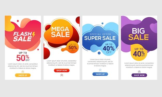 Dynamische moderne vloeiende mobiel voor flash verkoopbanners