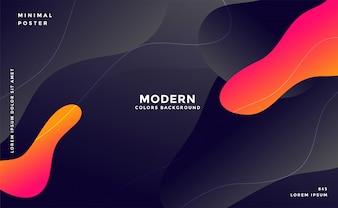 Dynamische moderne vloeiende stijlachtergrond