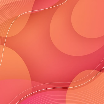 Dynamische oranje achtergrond met abstracte vloeiende vorm