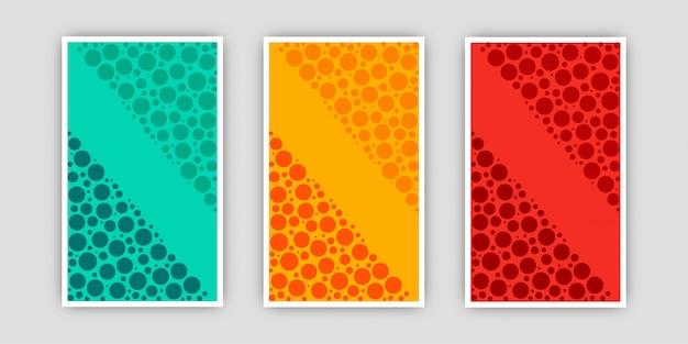 Dynamische, stijlvolle set halftoon posters
