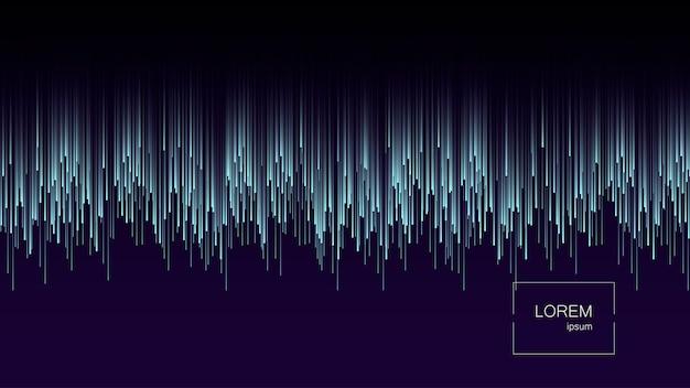 Dynamische stroom heldere lijnen abstracte achtergrond