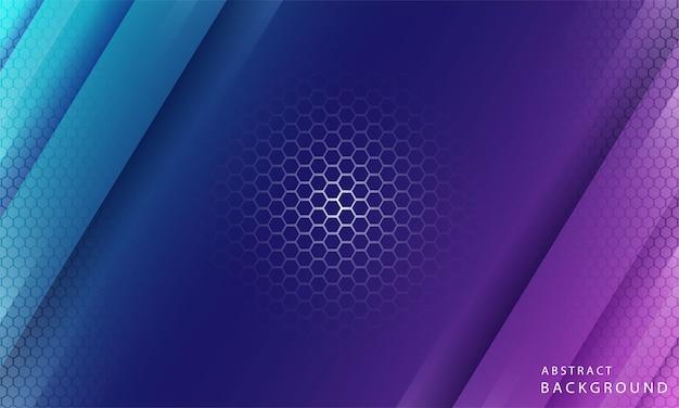 Dynamische trendy eenvoudige kleurverloop abstracte achtergrond met zeshoek textuur effecten. vectorillustratie