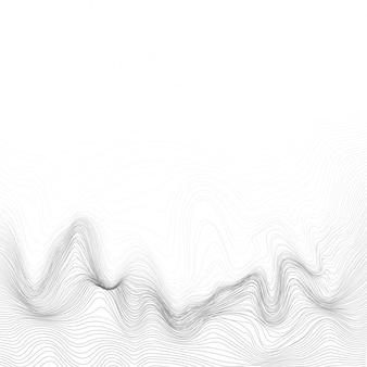 Dynamische vector golvende maasachtergrond