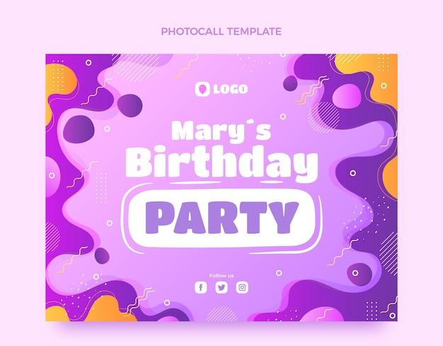 Dynamische verjaardagsfotocall met kleurovergang