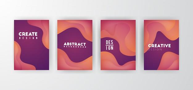 Dynamische vloeibare abstracte achtergrond