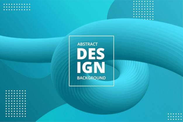 Dynamische vloeibare kleurrijke levendige golf 3d achtergrond