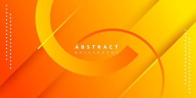 Dynamische vloeiende oranje geometrisch met kleurrijke gradiëntachtergrond