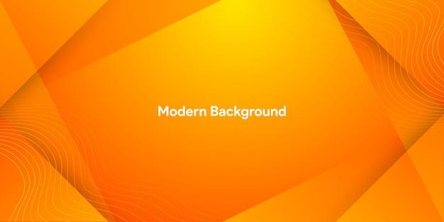 Dynamische vloeistof oranje abstracte achtergrond