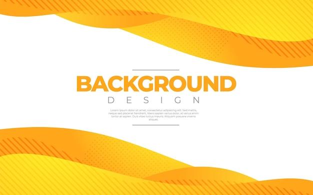 Dynamische vloeistof. oranje kleur 3d-stijl