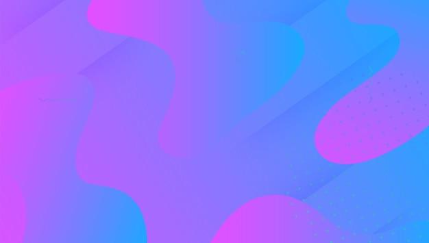 Dynamische vorm. levendige textuur. coole creatieve presentatie. geometrische pagina. vloeibaar patroon. neon-bestemmingspagina. blauwe plastic hoes. 3d-vloeibare poster. violet dynamische vorm