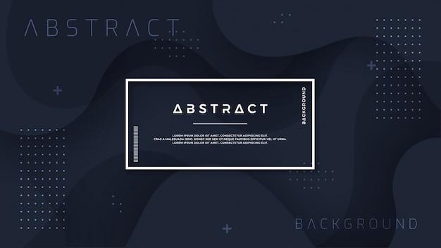 Dynamische zwarte gestructureerde achtergrond in 3d-stijl.