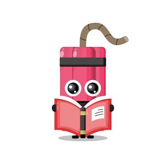 Dynamite leesboek schattig karakter mascotte