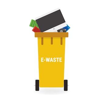 E-afval prullenbak plat