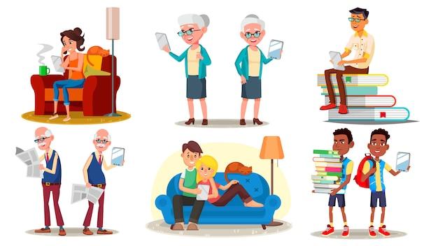 E-boek lezer concept