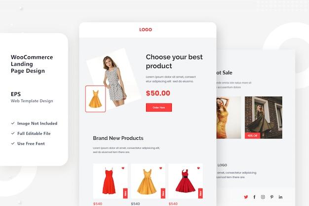 E-commerce bestemmingspagina-ontwerp