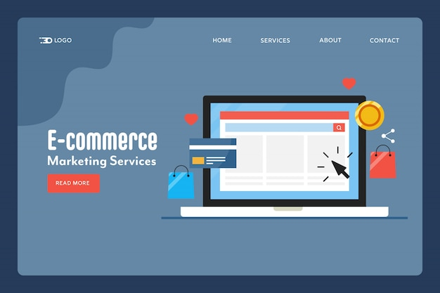 E-commerce conceptuele bestemmingspagina