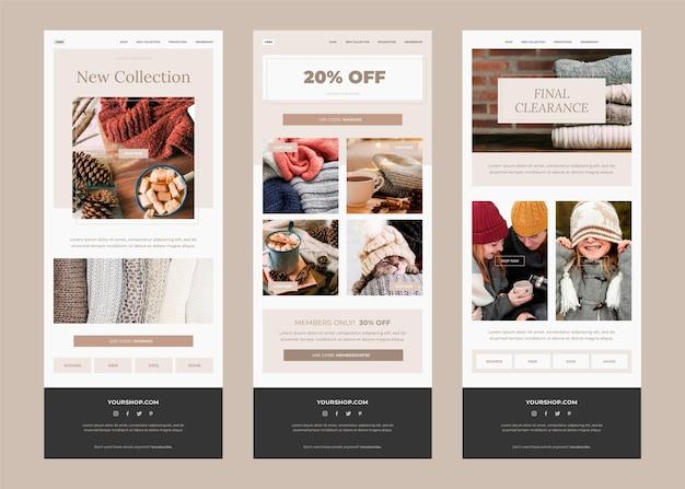 E-commerce e-mailsjabloon