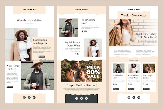 E-commerce e-mailsjabloonverzameling