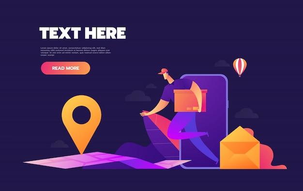 E-commerce levering. online betalen en online winkelen. kan worden gebruikt voor advertenties, infographics, mobiele apps-pictogram.