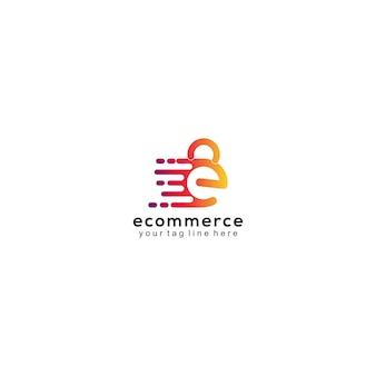 E-commerce logo sjabloon verloop modern