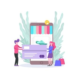 E-commerce online winkel illustratie