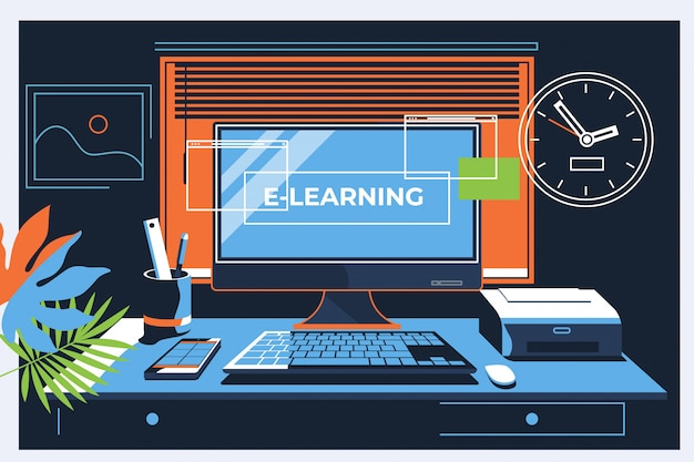 E-learning concept voor webpagina