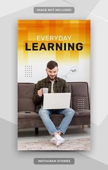 E-learning instagramverhalen-sjabloon