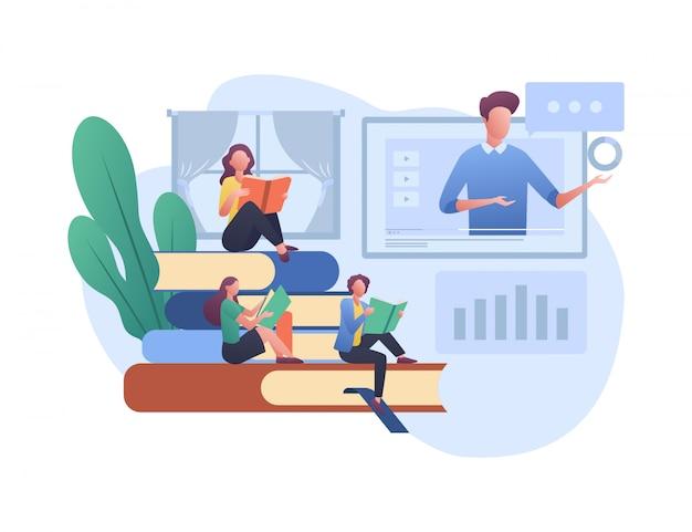 E - leren concept illustratie