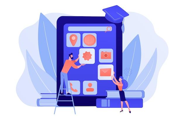 E-leren. onderwijsproces. opleidingsapplicatie