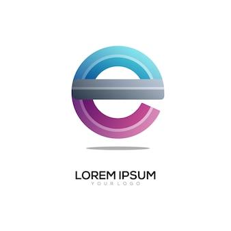 E letter logo kleurrijke afbeelding